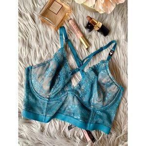 NWT Victoria's Secret Bra 32D Plunge Lace Longline